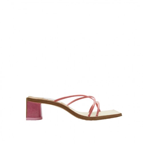 E8 By Miista Jenna Tea Rose Patent Sandals