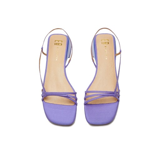 E8 By Miista Rhonda Mauve Silk Sandals