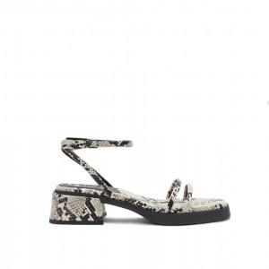 E8 By Miista Rosalyn Ivory Snake Sandals