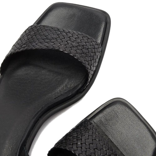 E8 By Miista Tanya Black Woven Sandals