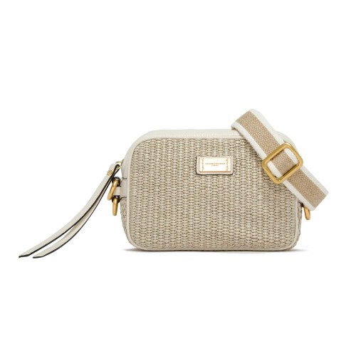Gianni Chiarini Alyssa Leather And Raffia Crossbody