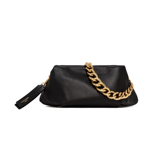 Gianni Chiarini Colette Black Leather Clutch