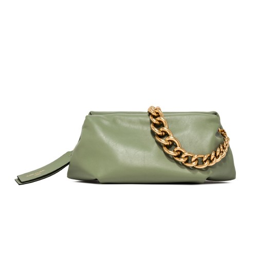 Gianni Chiarini Colette Mint Green Leather Clutch