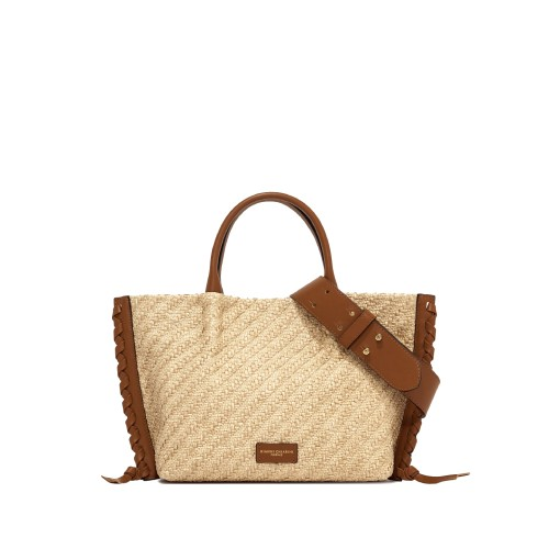 Gianni Chiarini Twenty Cuoio Raffia Handbag