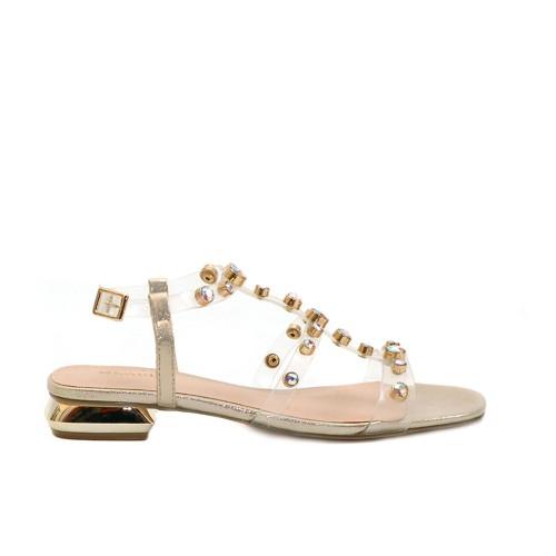 Menbur Clear Strap Sandals