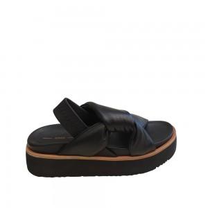Uno8uno Ketty Black Napa Leather Platforms