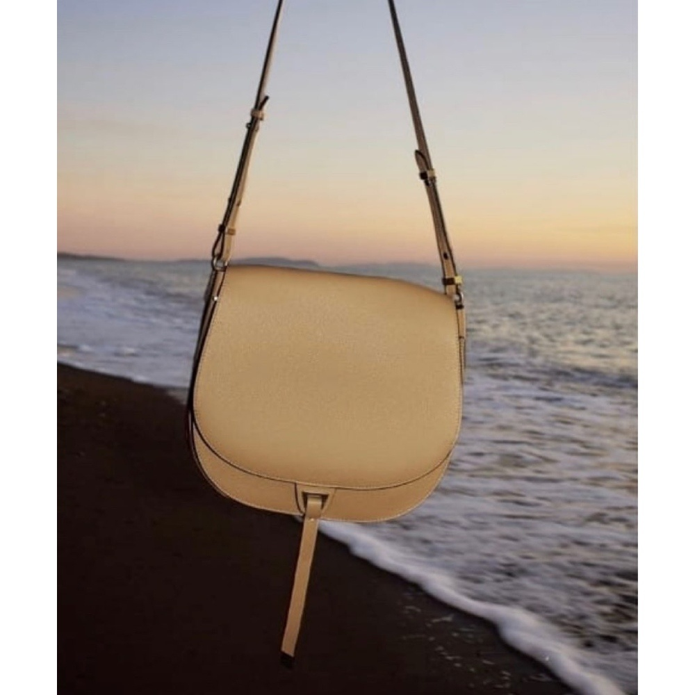 Coccinelle Arpege Warm Beige Leather Shoulder Bag