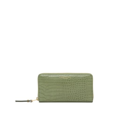 Gianni Chiarini Mint Green Croco Leather Wallet