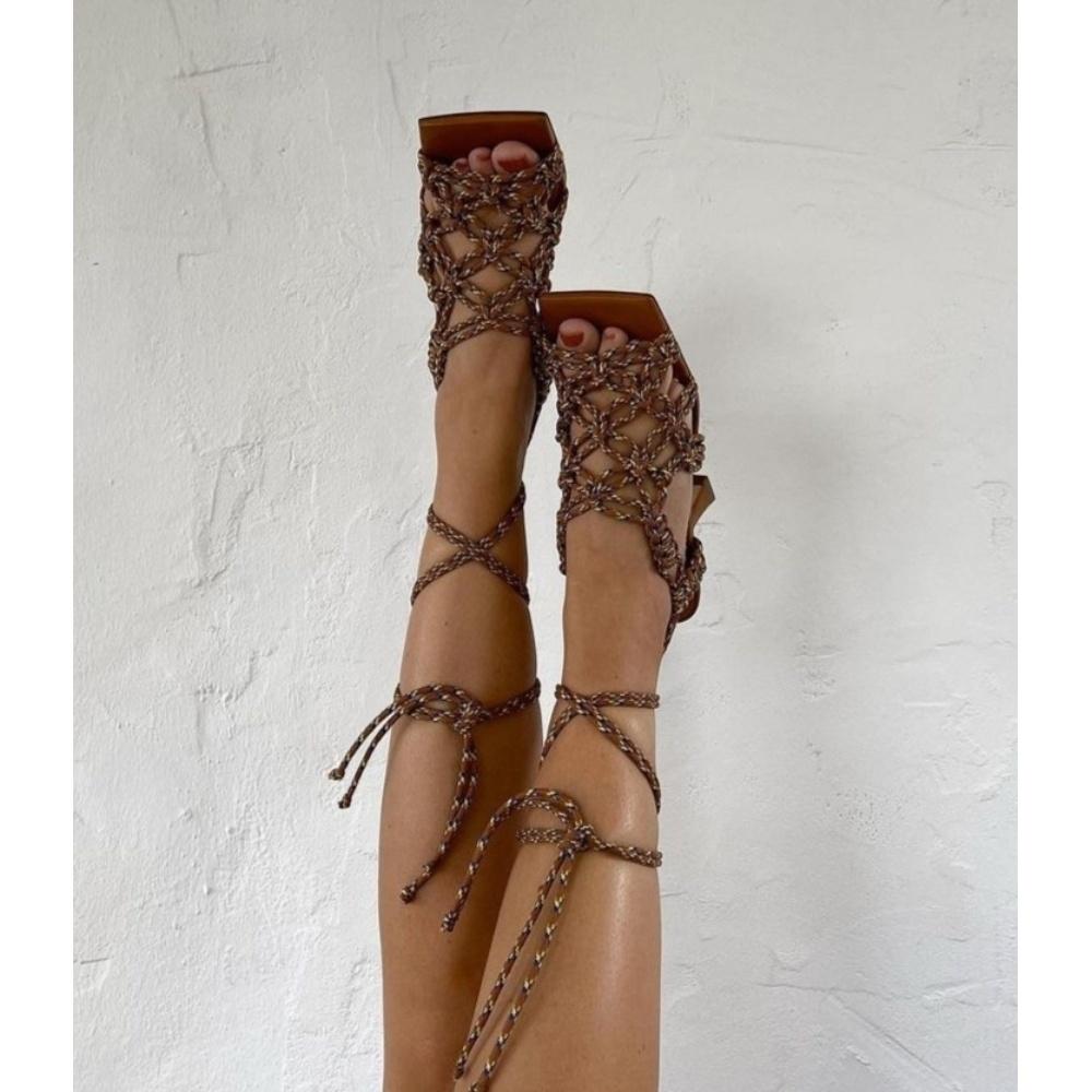Miista Stephanie Camel Sandals