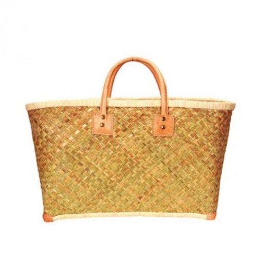 Bagatelle France Leather Handles Beach Bag