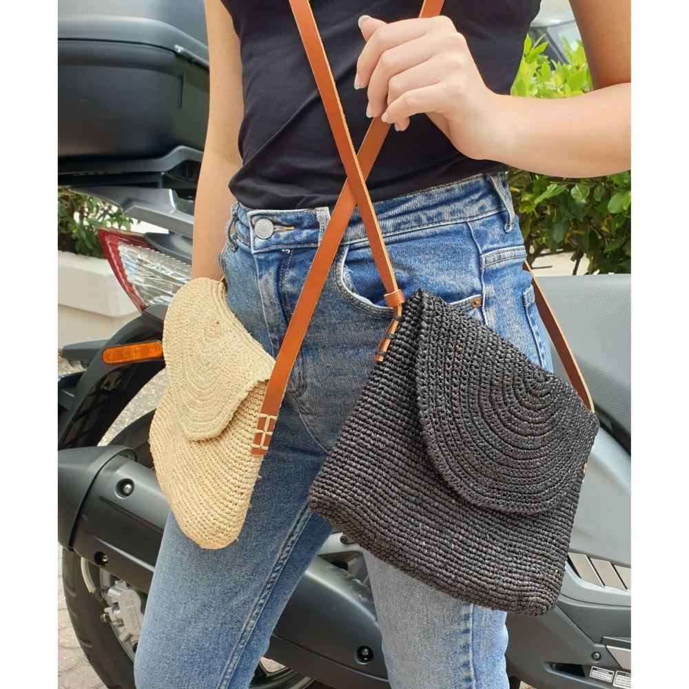 Bagatelle France Raffia Crossbody Bags