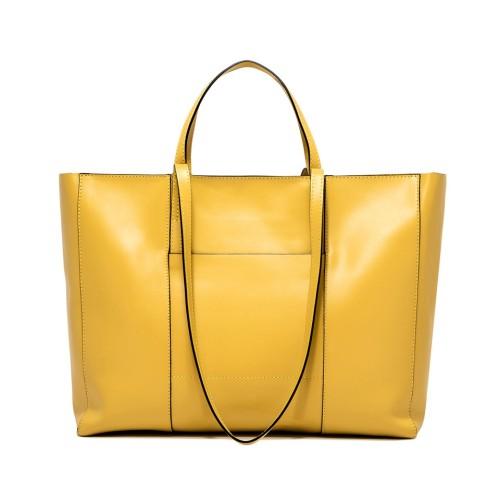 Gianni Chiarini Superlight Custard Leather Bag