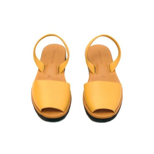 Minorquines Avarca Platja Yellow Leather Sandals