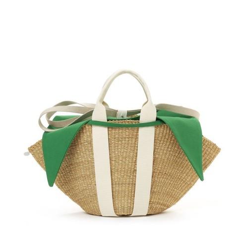 Muuñ Sophie Removable Pouch Ecru Straw Bag