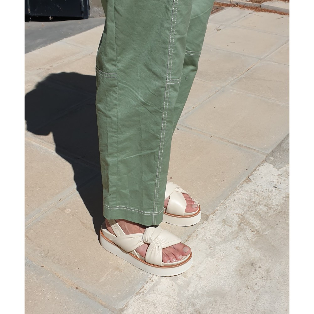 Uno8uno Ketty Off-White Napa Leather Platforms