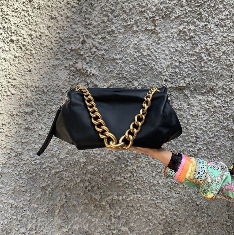 Gianni Chiarini Colette Black Leather Clutch