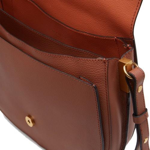 Coccinelle Arpege Tabac Leather Shoulder Bag
