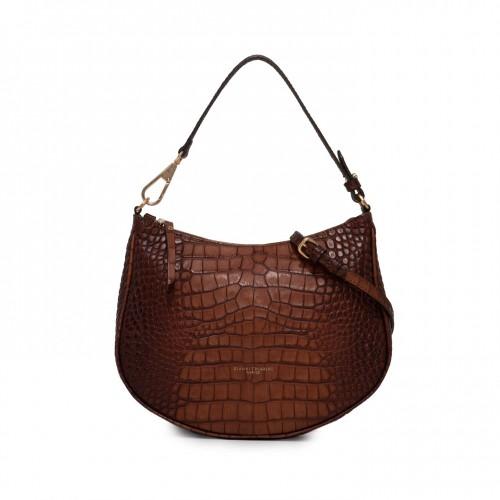 Gianni Chiarini Brooke Cuoio Printed Leather Shoulder Bag