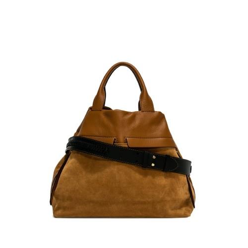 Gianni Chiarini Duna Cuoio Suede Shoulder Bag