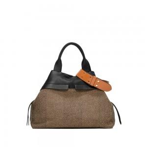 Gianni Chiarini Duna Herringbone Shoulder Bag