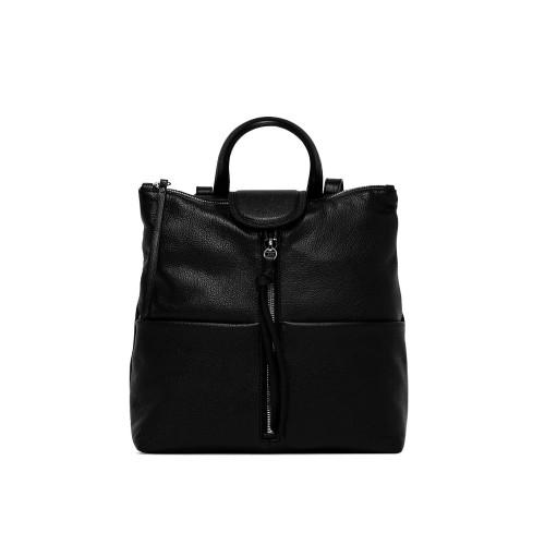 Gianni Chiarini Giada Black Leather Backpack