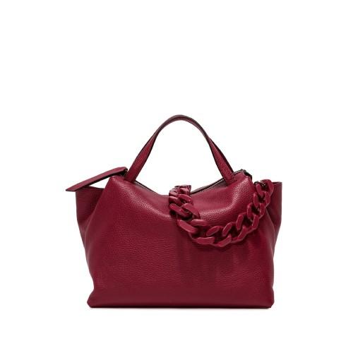 Gianni Chiarini Origami Deep Red Leather Handbag