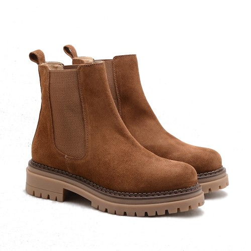 KMB Tabac Suede Chelsea Boots