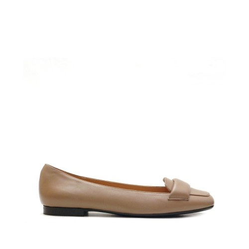 The Bag Taupe Flat Pumps