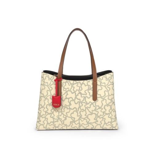 TOUS Kaos Icon Large Beige Shoulder Bag