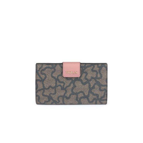 TOUS Kaos Icon Pink Flat Wallet